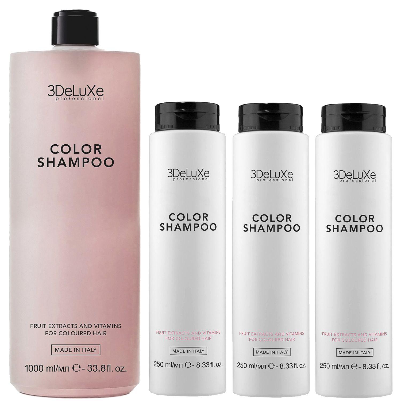 3DeLuXe Professional COLOR Shampoo Bundle 1+3