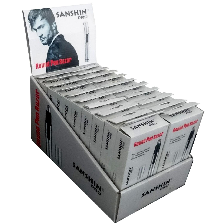Sanshin Pro - ROUND PEN Razor Display inkl. 20 Stück