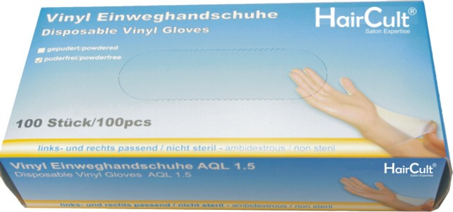 HairCult Vinylhandschuhe gepudert 100 St.