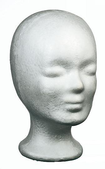 Schaumstoffkopf aus Styropor