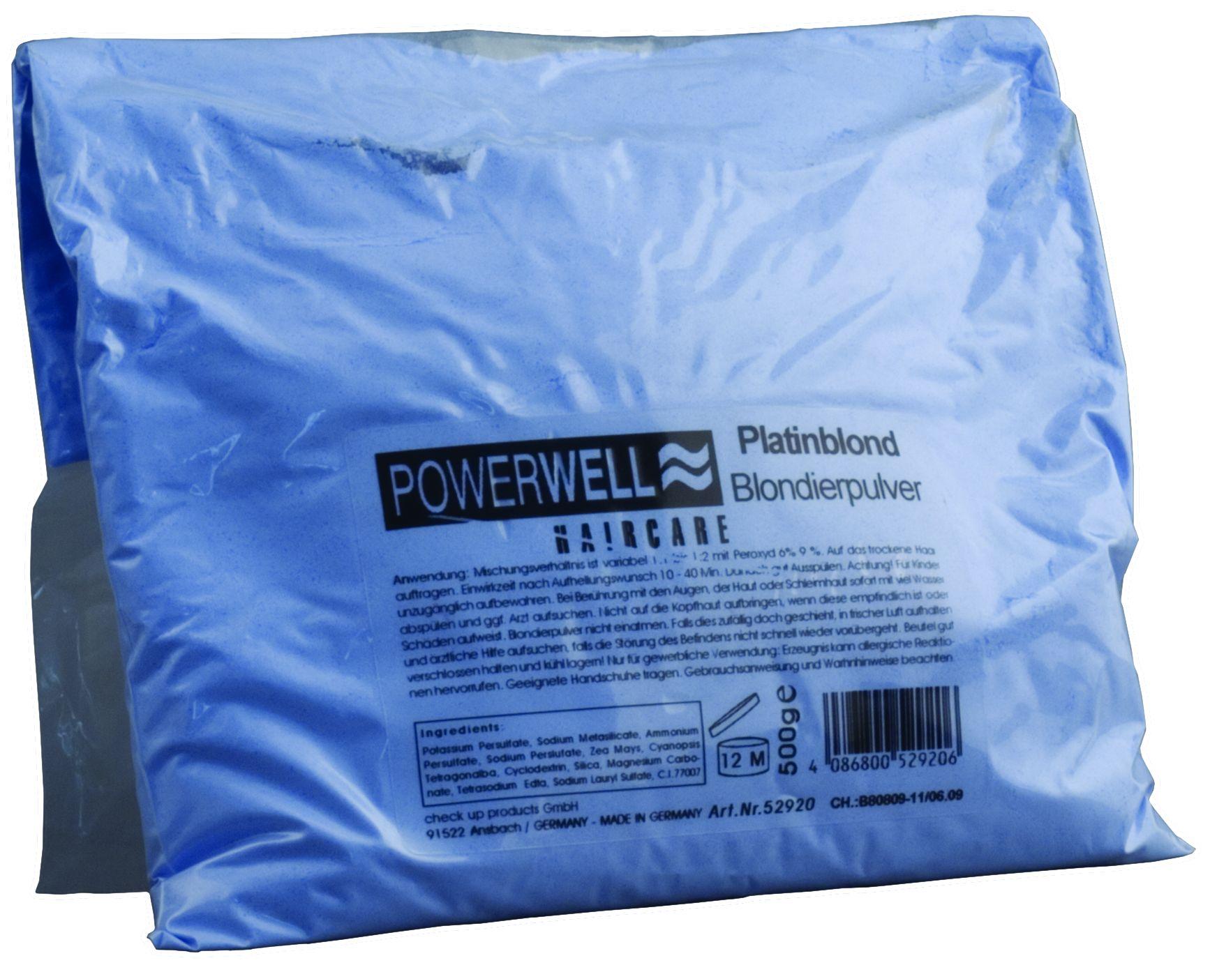 POWERWELL Blondierpulver platinblond 500 g