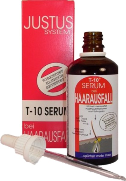 JUSTUS SYSTEM T-10 Serum bei Haarausfall 100 ml