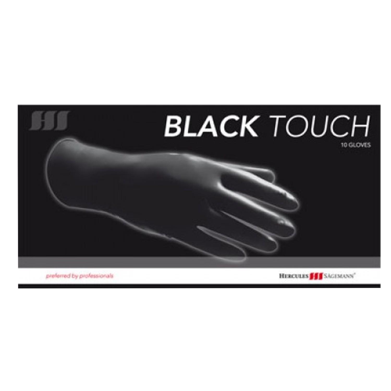 Hercules Sägemann Black Touch Latex-Handschuhe 10 St.