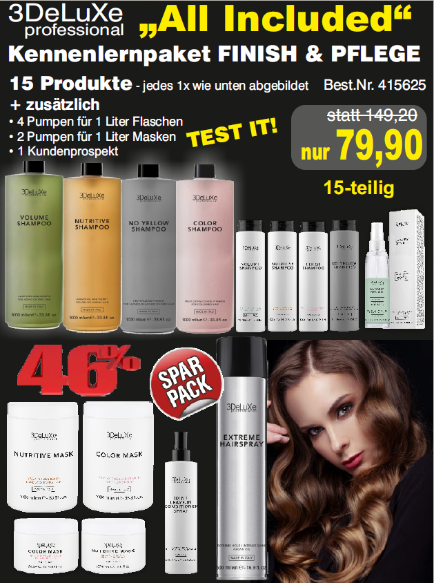 """Kennenlernpaket """"All Included"""" Finish & Pflege"""