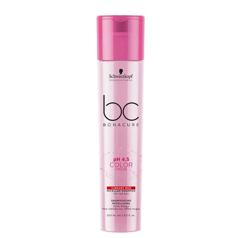 Schwarzkopf BC pH 4.5 COLOR FREEZE Vibrant Red Micellar Shampoo 250 ml
