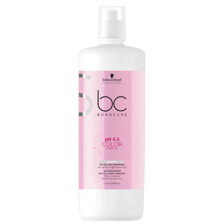 Schwarzkopf BC pH 4.5 COLOR FREEZE Silver Micellar Shampoo 1 L