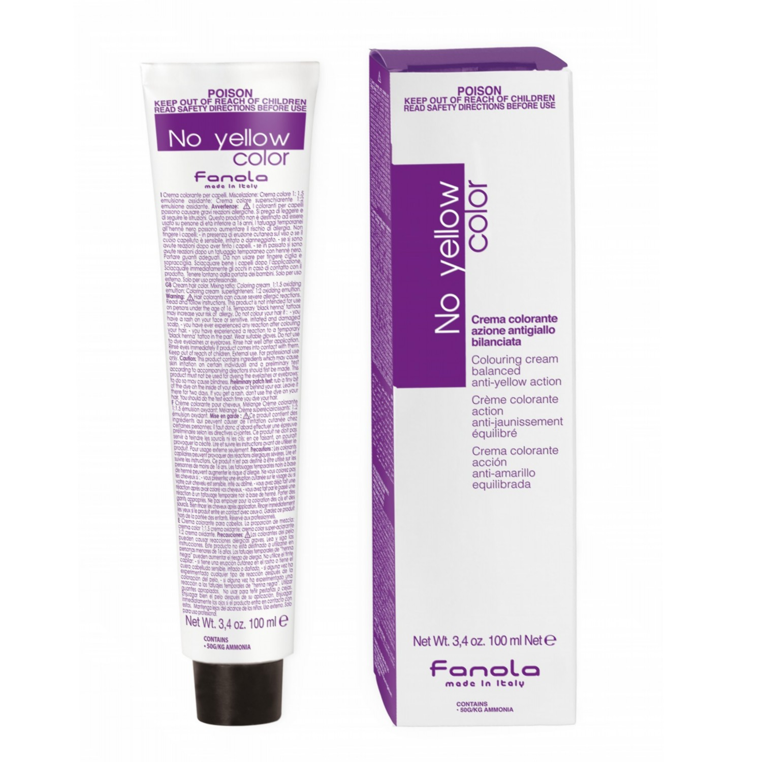 Fanola No yellow color ICE BLOND 100 ml