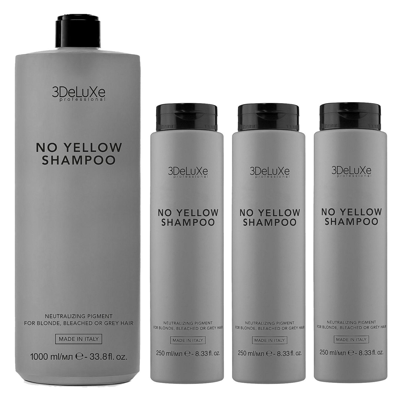 3DeLuXe Professional NO YELLOW Shampoo Bundle 1+3