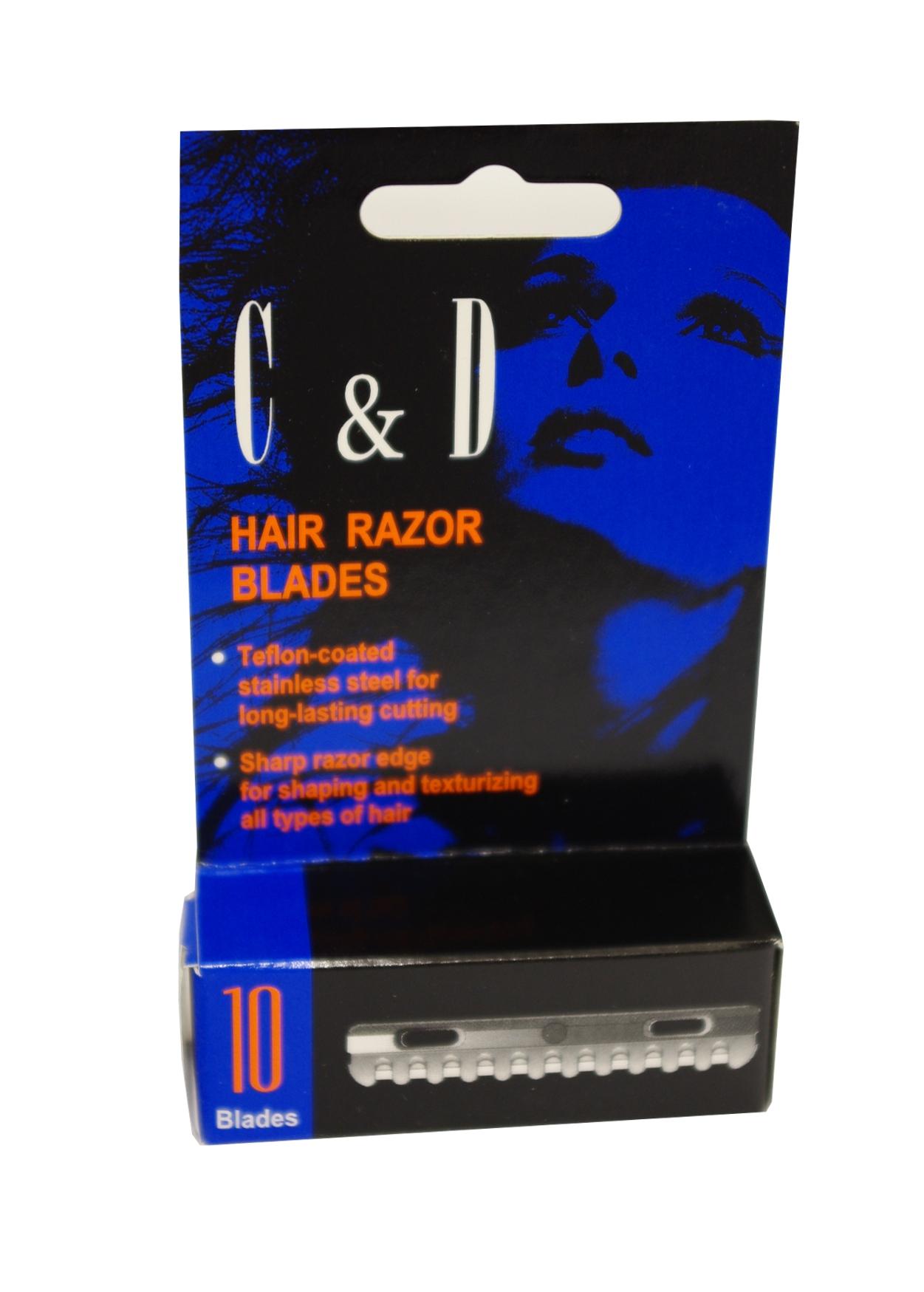 C & D Hair Razor Blades Klingen 10 St.
