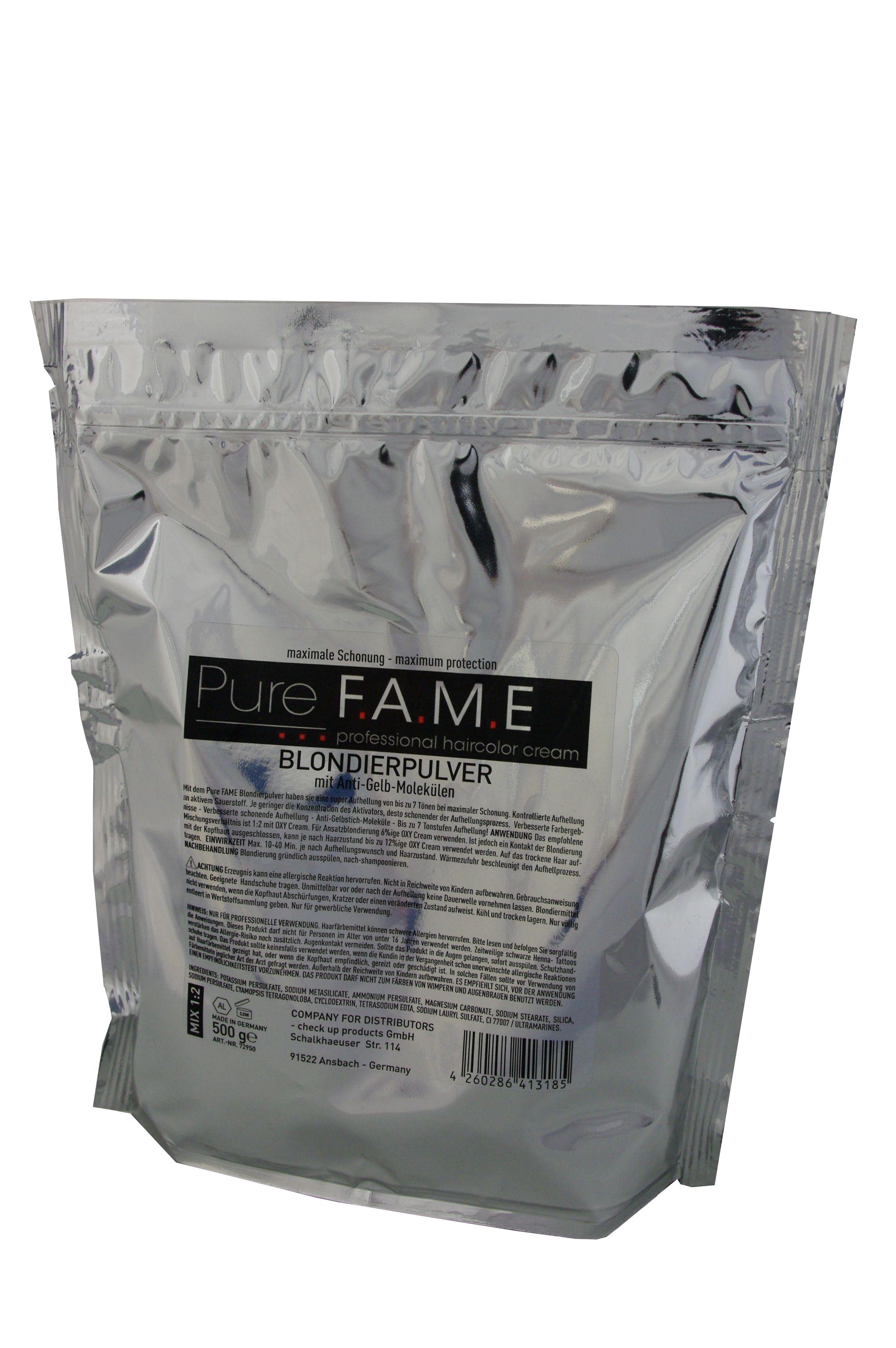 Pure Fame Blondierpulver blau 500 g im Alubeutel