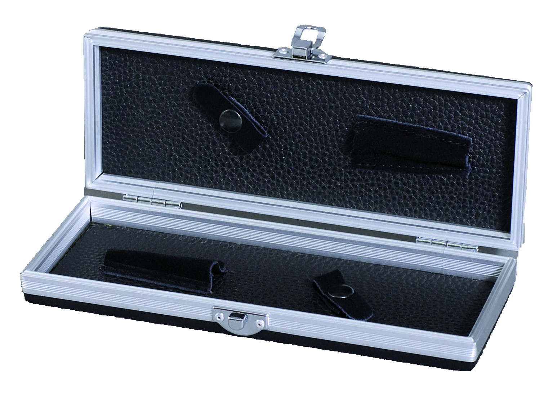 Alu-Scherenbox BLACK Small geöffnet