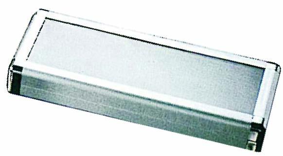 Aluminium-Scherenetui mit Sichtfenster Large