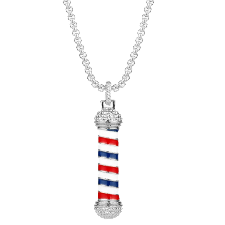 Halskette silber 'Barber Pole'
