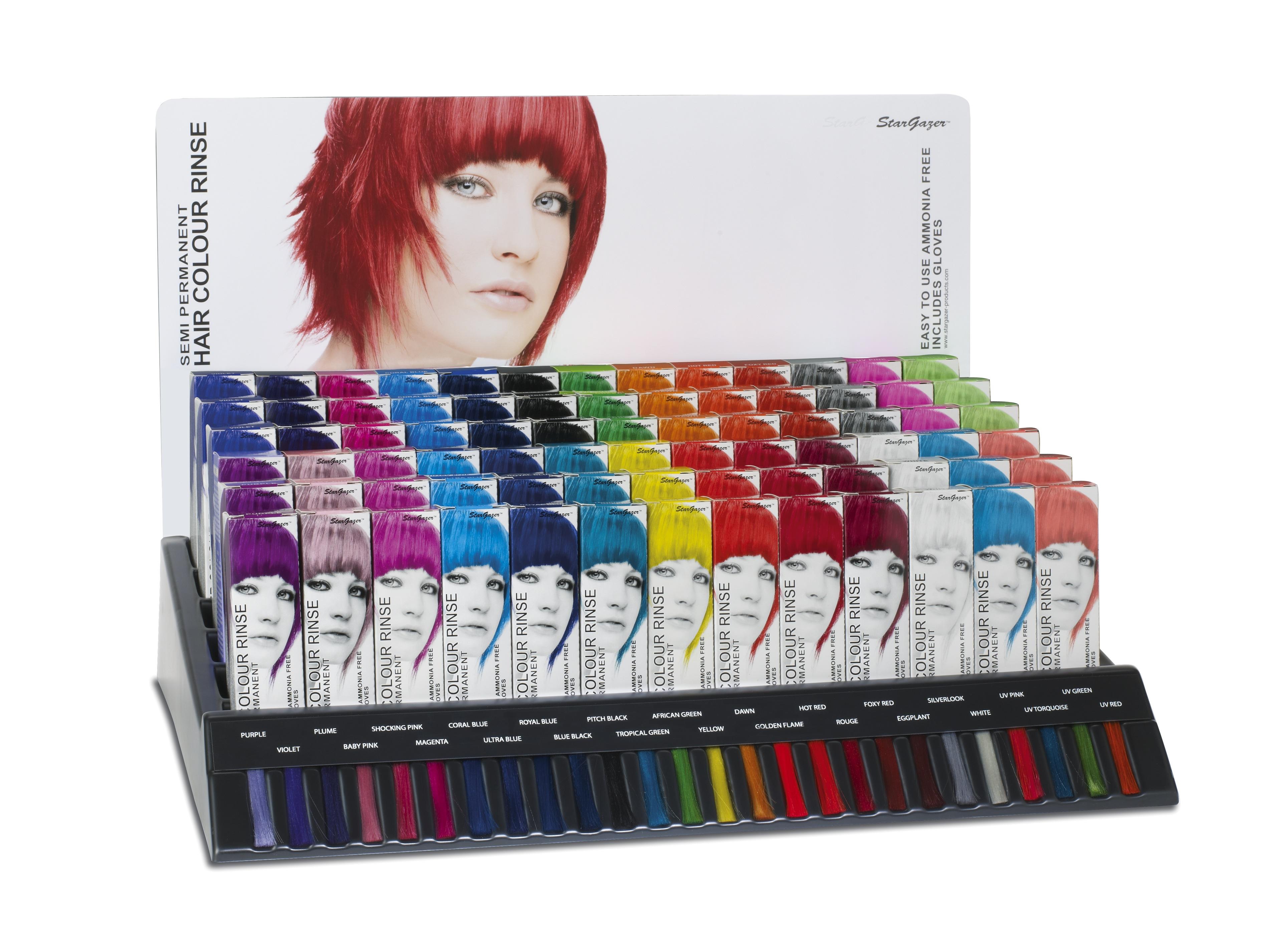 StarGazer Hair Colour Rinse Leerdisplay